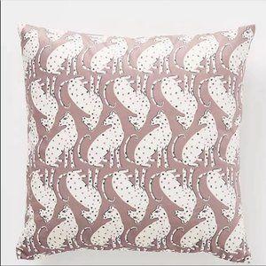 ANTHROPOLOGIE Cecily Feline Velvet Pillow